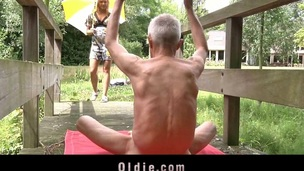 Monica Thu is golden-haired juvenile and curious and this chap is an oldman with experience and over all a guru. The perfect peer for an oldyoung bonks skills exchange. Lengthy love tunnel licking and intensive cocksucking occur