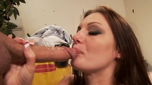 Observe the sexually sweet oral job fucking with the brunette girl