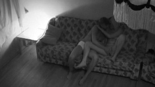 Horny whore begins riding her partner's thick dick on the sofa