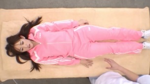 Japanese bitch is double permeated and cum overspread on web camera