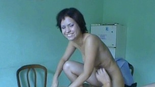 Beautiful girlie gets banged hard in very different poses.