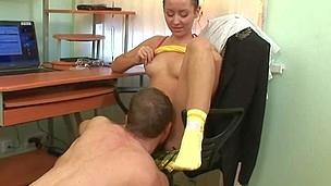 Horny teacher is pounding sweet babe senseless