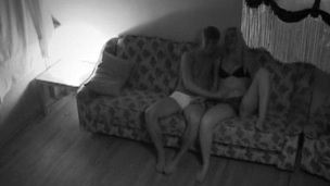 Filthy sweetheart is fucking on a sofa, as camera is capturing that sex