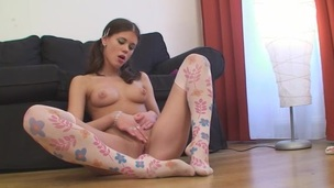 Cutie Legal Age Teenager Playing With Muff