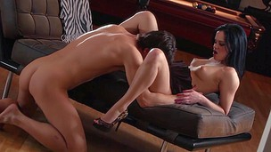 Sexy brunette hair Jenna Ross acquires on her knees for her fellow and gives him an excellent BJ previous to being eaten out and fucked